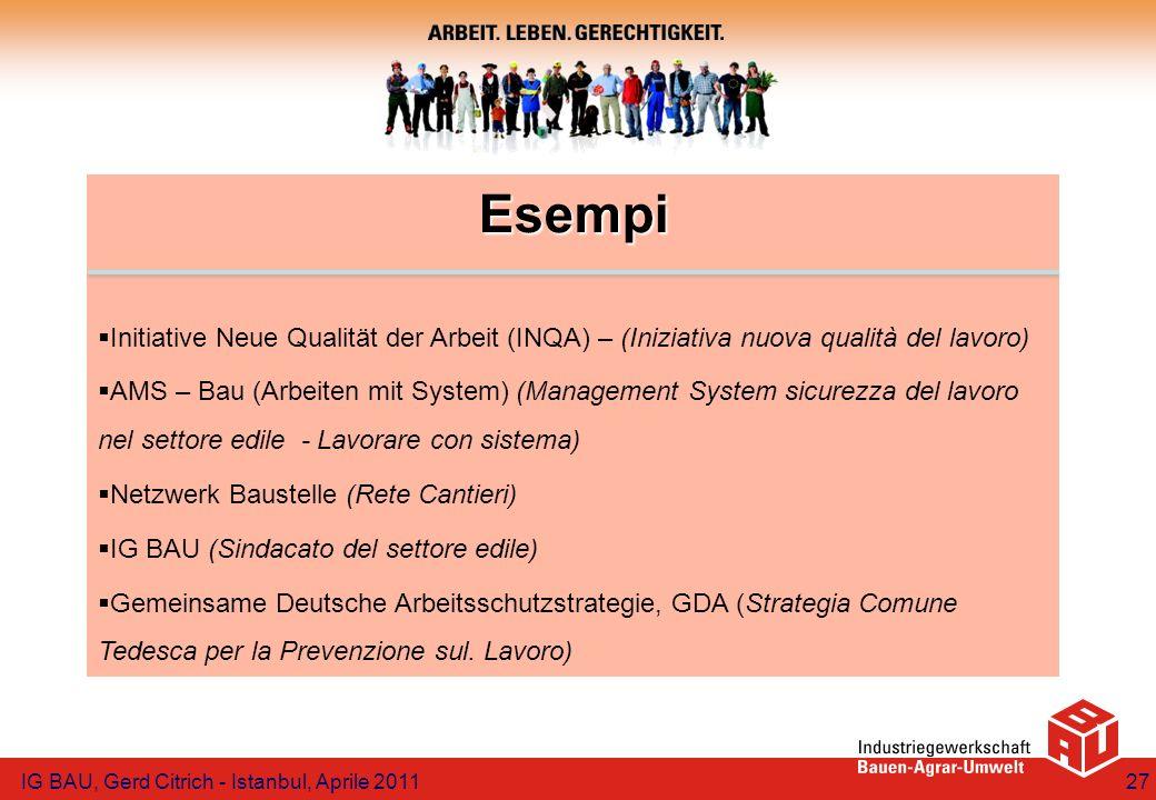 Esempi Initiative Neue Qualität der Arbeit (INQA) – (Iniziativa nuova qualità del lavoro)
