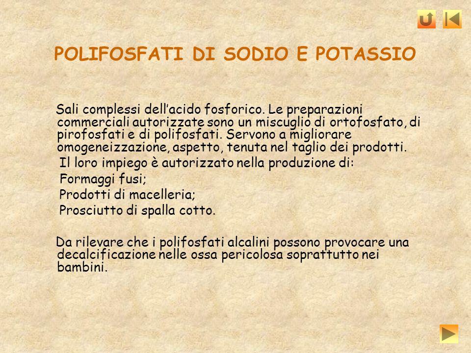 POLIFOSFATI DI SODIO E POTASSIO