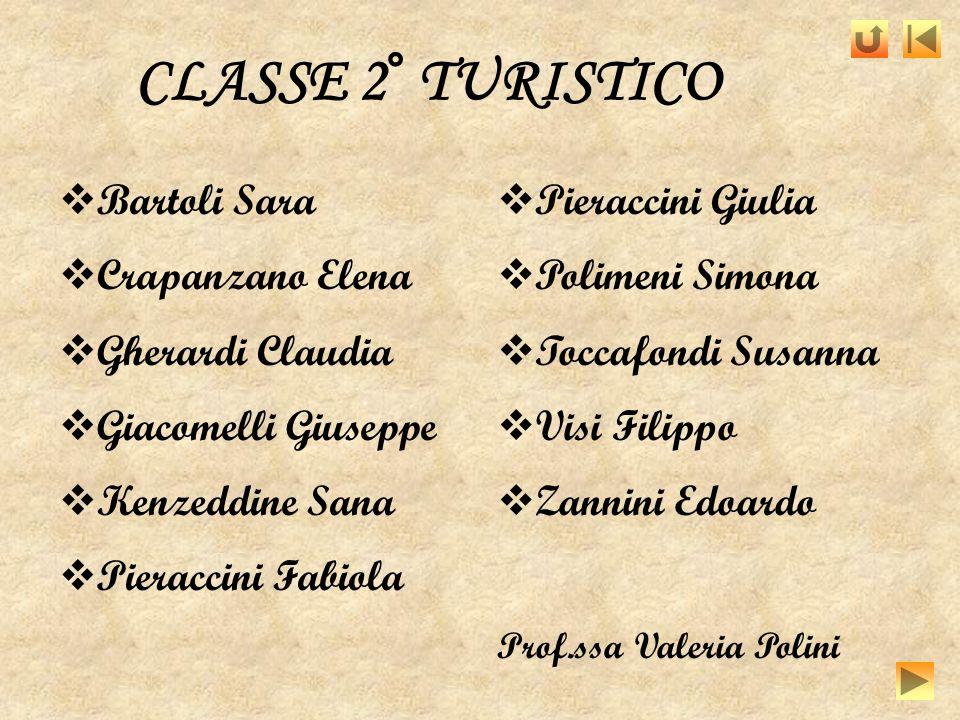 CLASSE 2° TURISTICO Bartoli Sara Crapanzano Elena Gherardi Claudia
