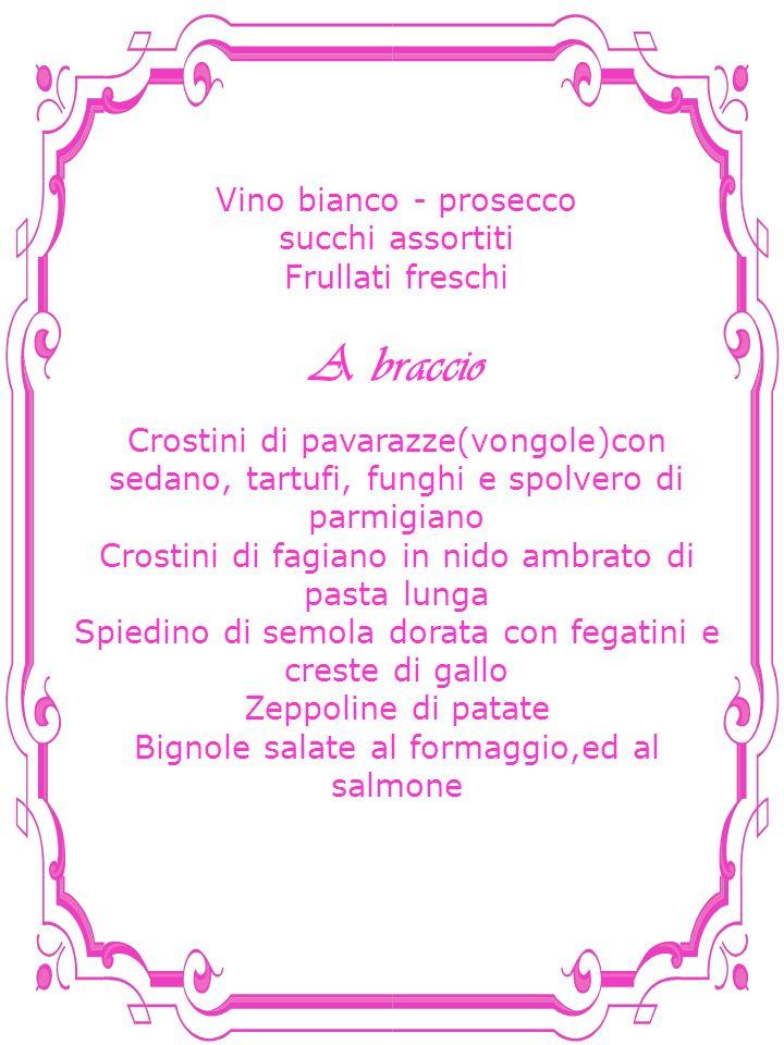A braccio Vino bianco - prosecco succhi assortiti Frullati freschi