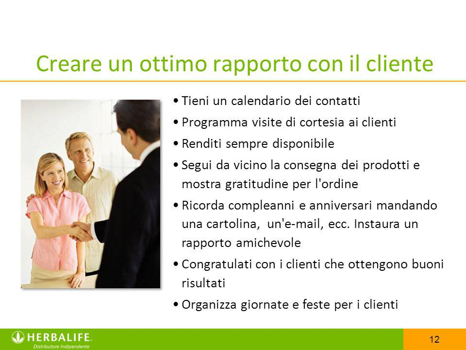 Creare un ottimo rapporto con il cliente
