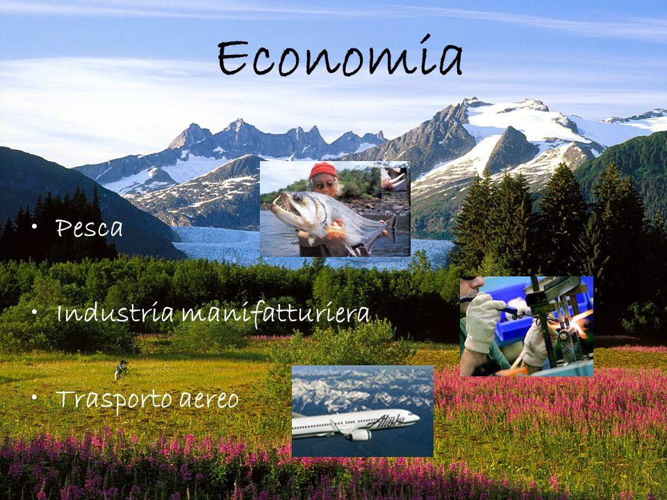 Economia Pesca Industria manifatturiera Trasporto aereo