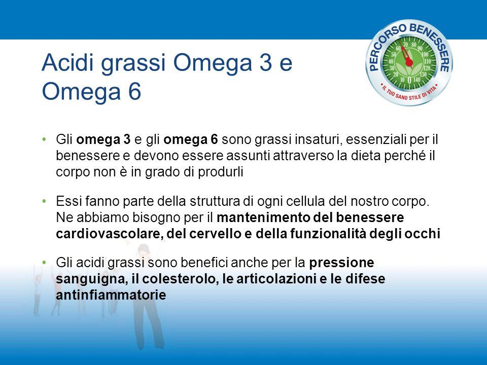 Acidi grassi Omega 3 e Omega 6