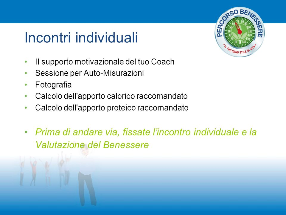 Incontri individuali Il supporto motivazionale del tuo Coach. Sessione per Auto-Misurazioni. Fotografia.