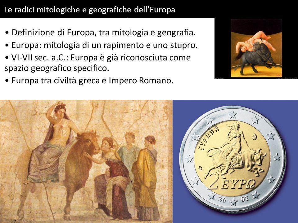 Definizione di Europa, tra mitologia e geografia.