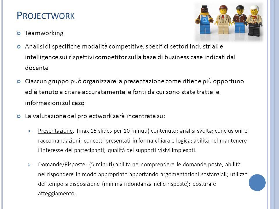 Projectwork Teamworking