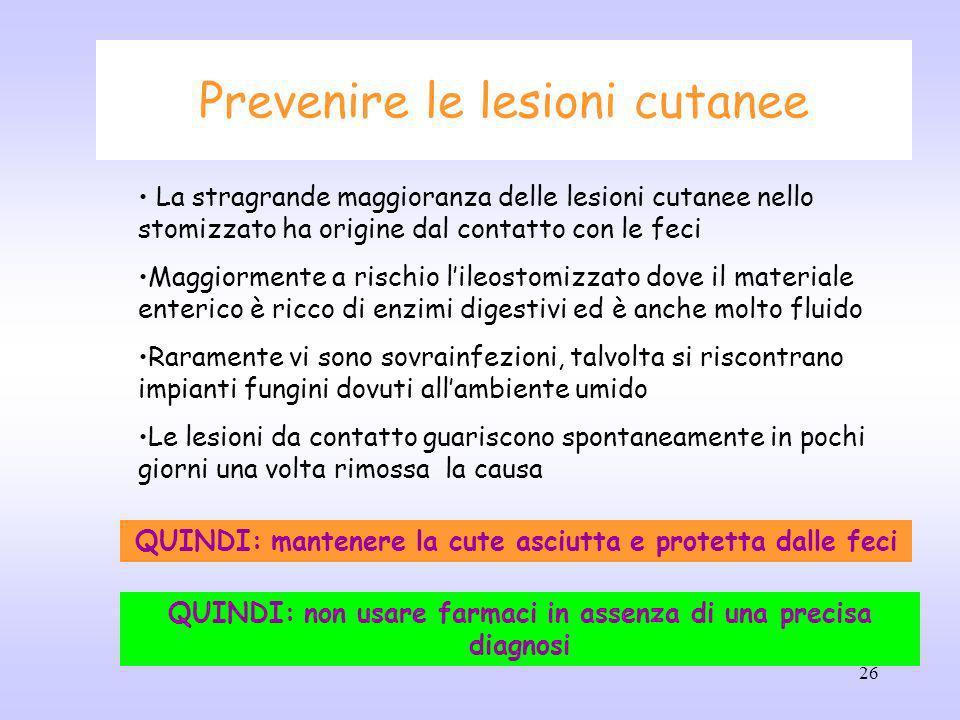 Prevenire le lesioni cutanee