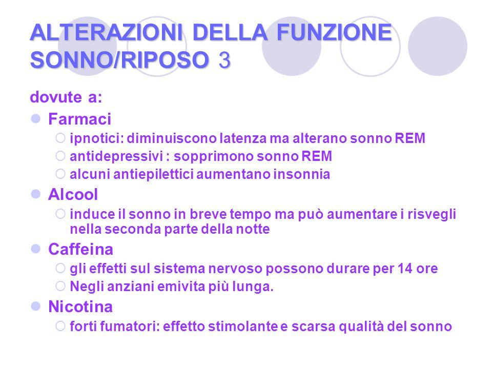 ALTERAZIONI DELLA FUNZIONE SONNO/RIPOSO 3