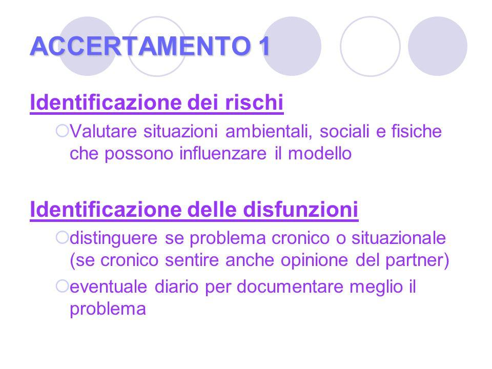 ACCERTAMENTO 1 Identificazione dei rischi