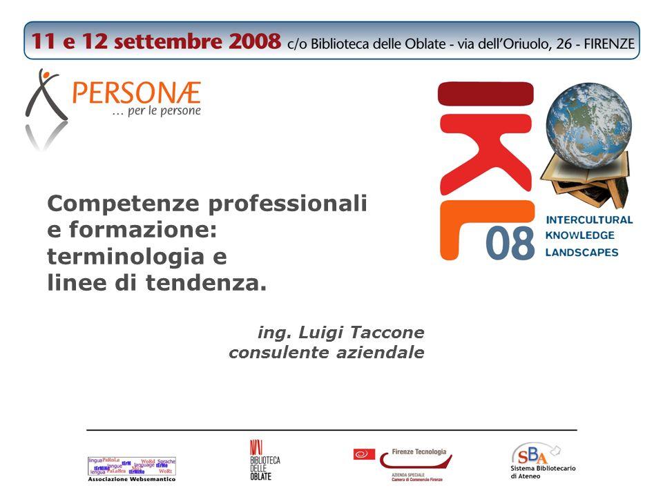Competenze professionali e formazione: terminologia e