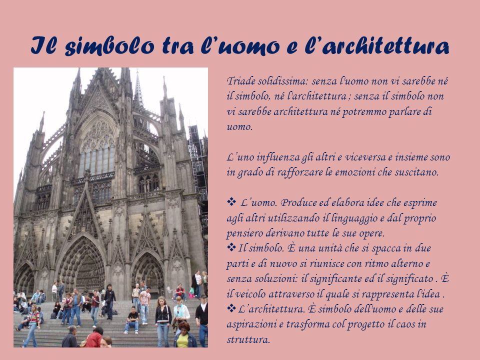 Il simbolo tra l'uomo e l'architettura