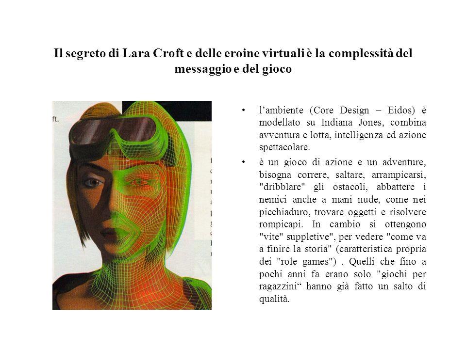 Il segreto di Lara Croft e delle eroine virtuali è la complessità del messaggio e del gioco