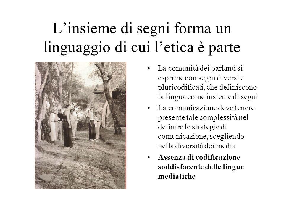 L'insieme di segni forma un linguaggio di cui l'etica è parte