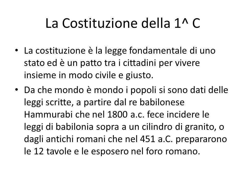 La Costituzione della 1^ C