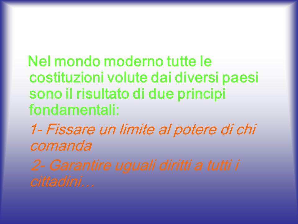 2- Garantire uguali diritti a tutti i cittadini…