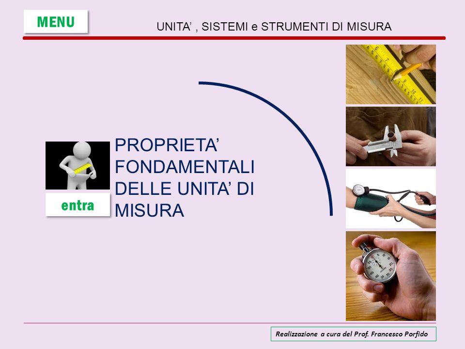 PROPRIETA' FONDAMENTALI DELLE UNITA' DI MISURA