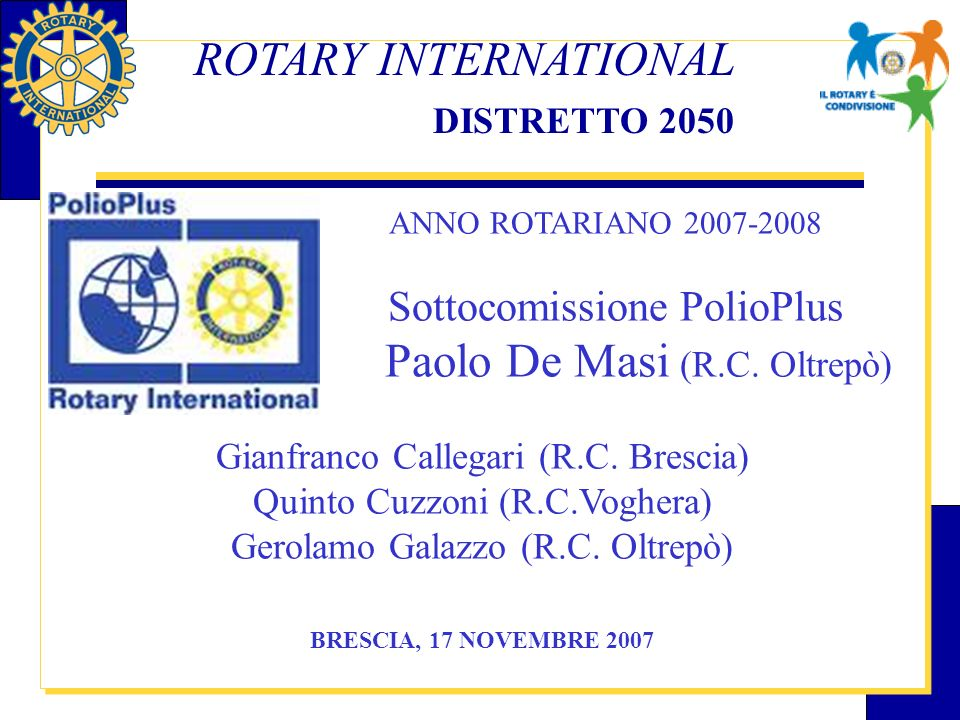 ROTARY INTERNATIONAL DISTRETTO 2050