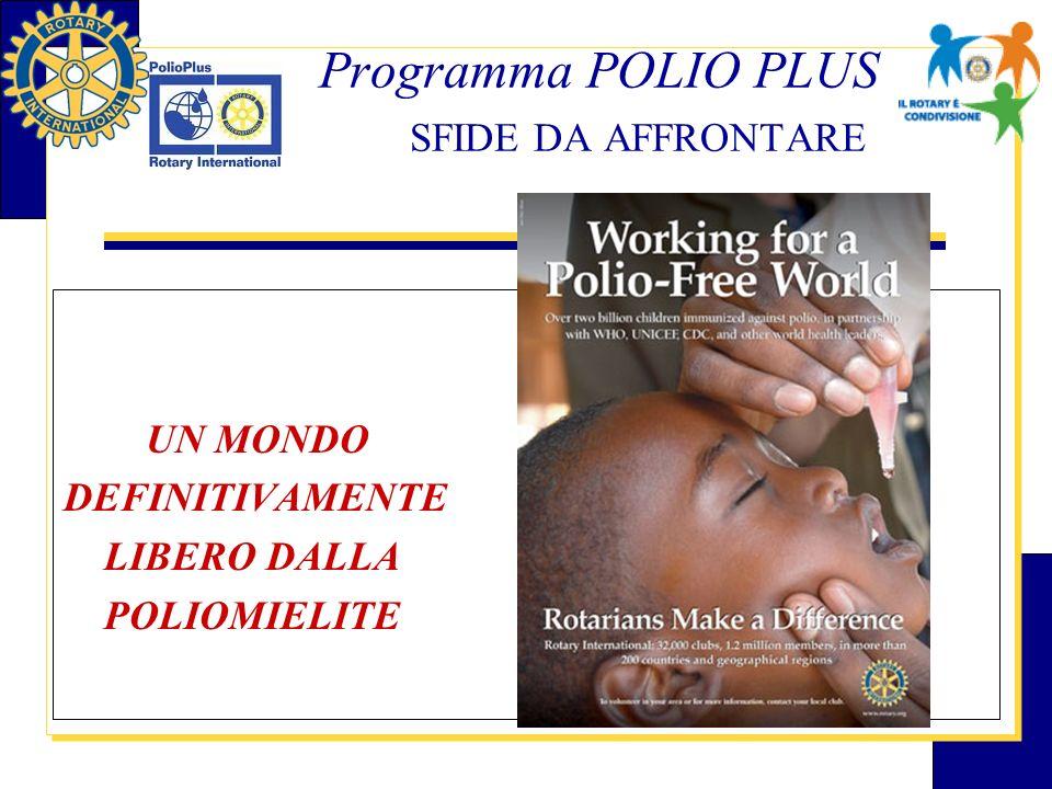 Programma POLIO PLUS SFIDE DA AFFRONTARE