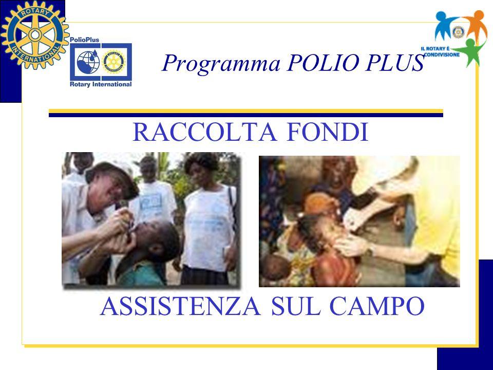 Programma POLIO PLUS RACCOLTA FONDI ASSISTENZA SUL CAMPO