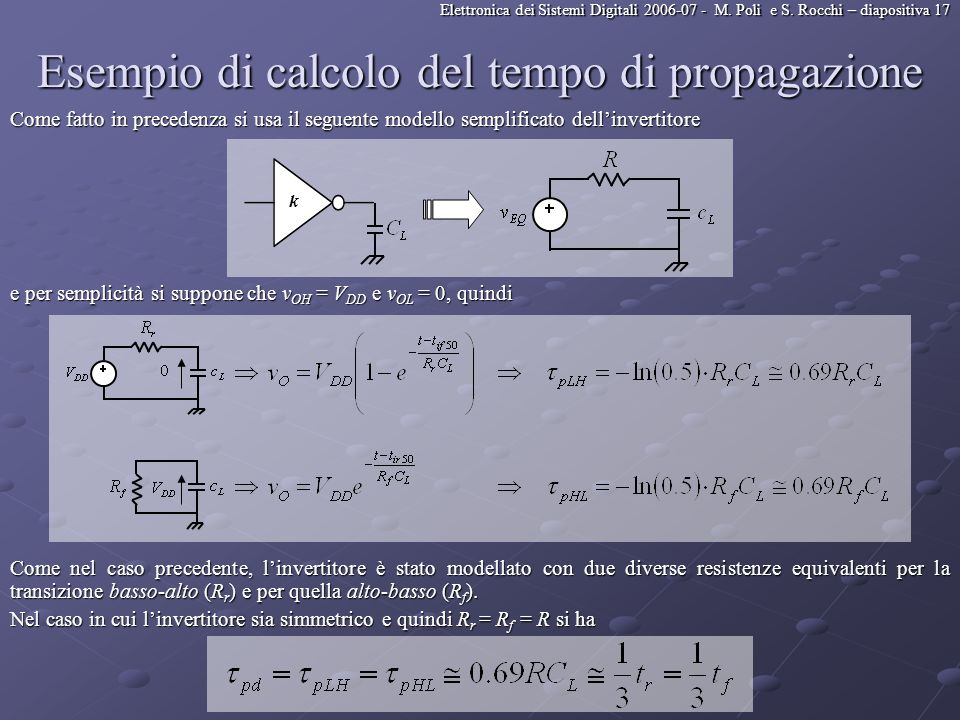 Esempio di calcolo del tempo di propagazione