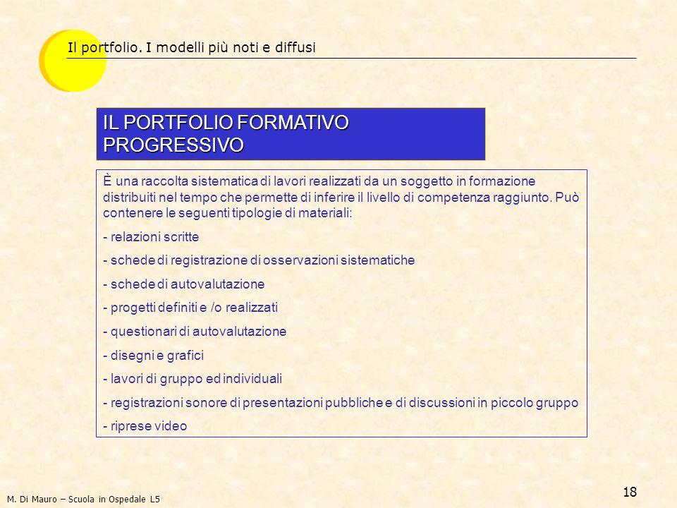 IL PORTFOLIO FORMATIVO PROGRESSIVO