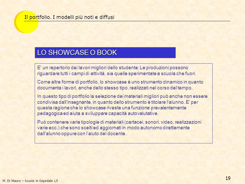 LO SHOWCASE O BOOK Il portfolio. I modelli più noti e diffusi
