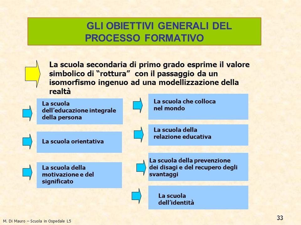 GLI OBIETTIVI GENERALI DEL PROCESSO FORMATIVO
