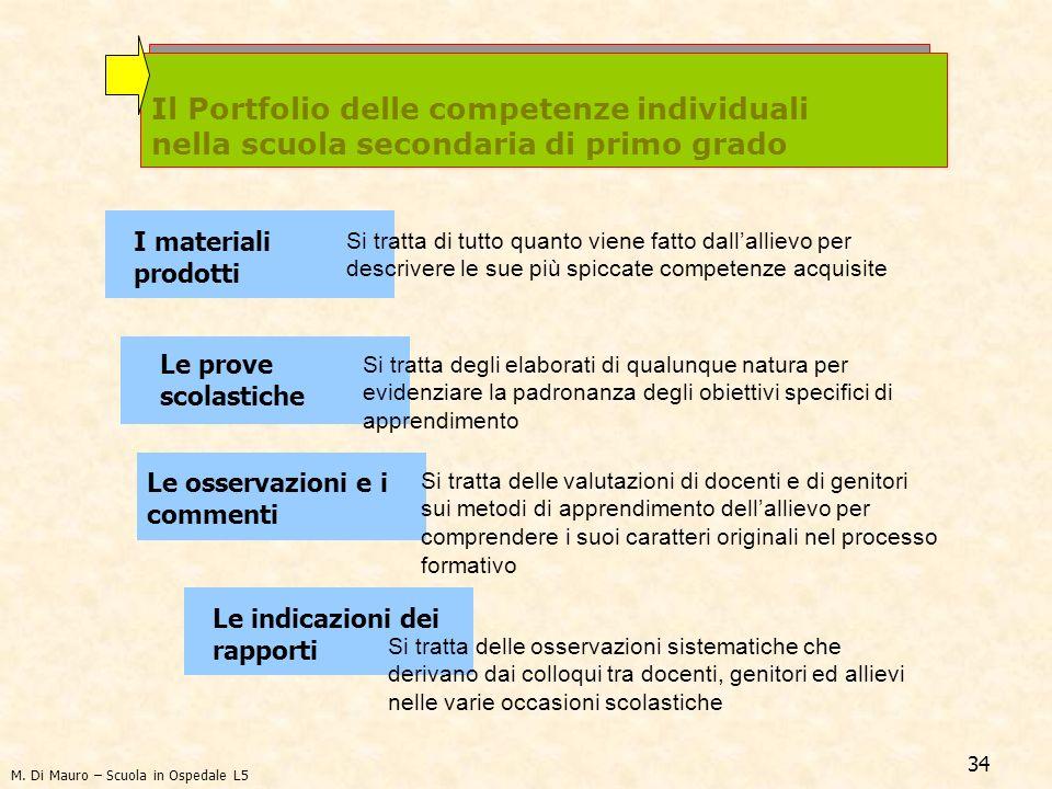 Il Portfolio delle competenze individuali nella scuola secondaria di primo grado