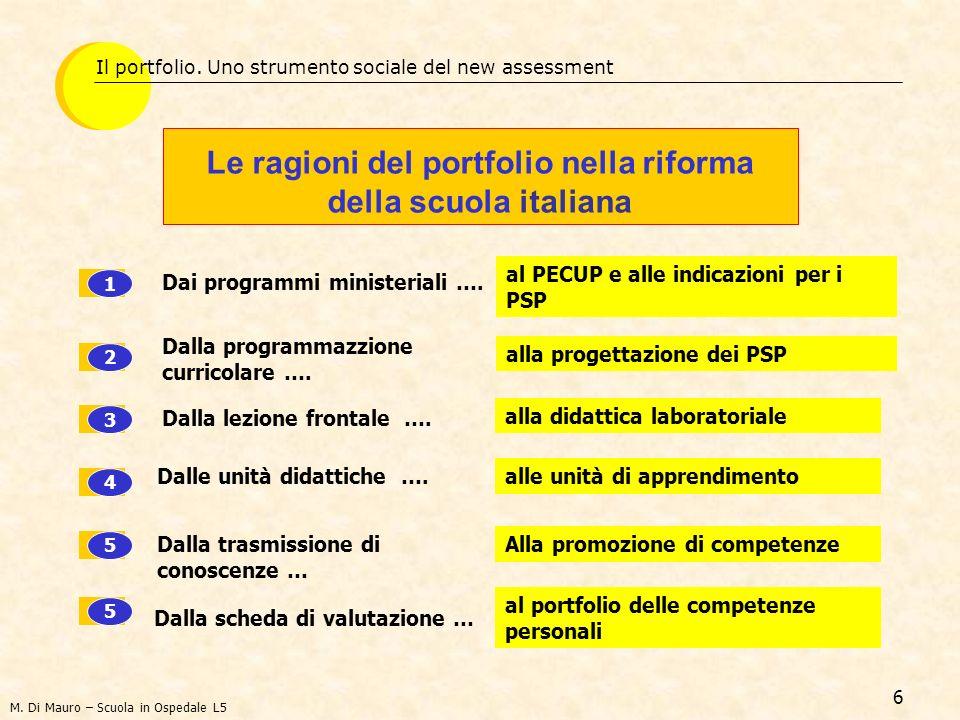 Le ragioni del portfolio nella riforma della scuola italiana