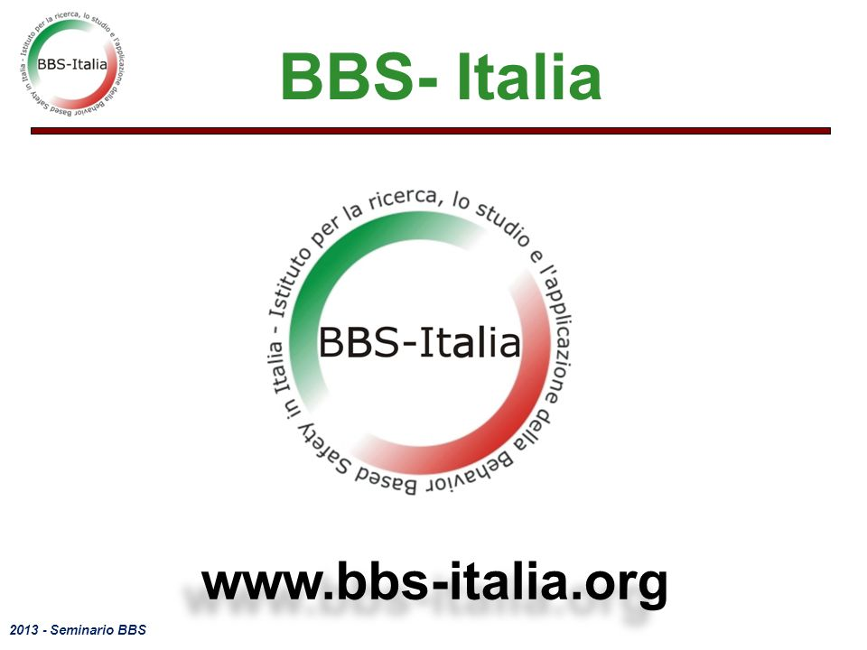 BBS- Italia www.bbs-italia.org