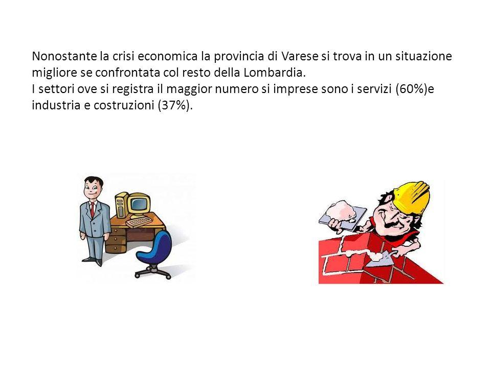 Nonostante la crisi economica la provincia di Varese si trova in un situazione migliore se confrontata col resto della Lombardia.