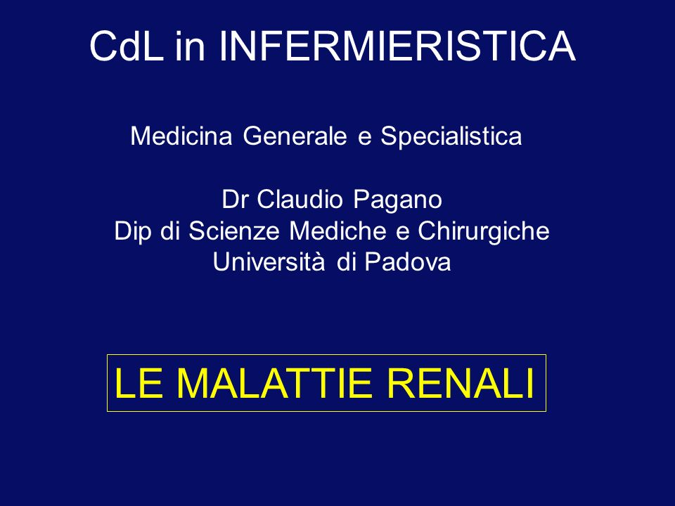 CdL in INFERMIERISTICA