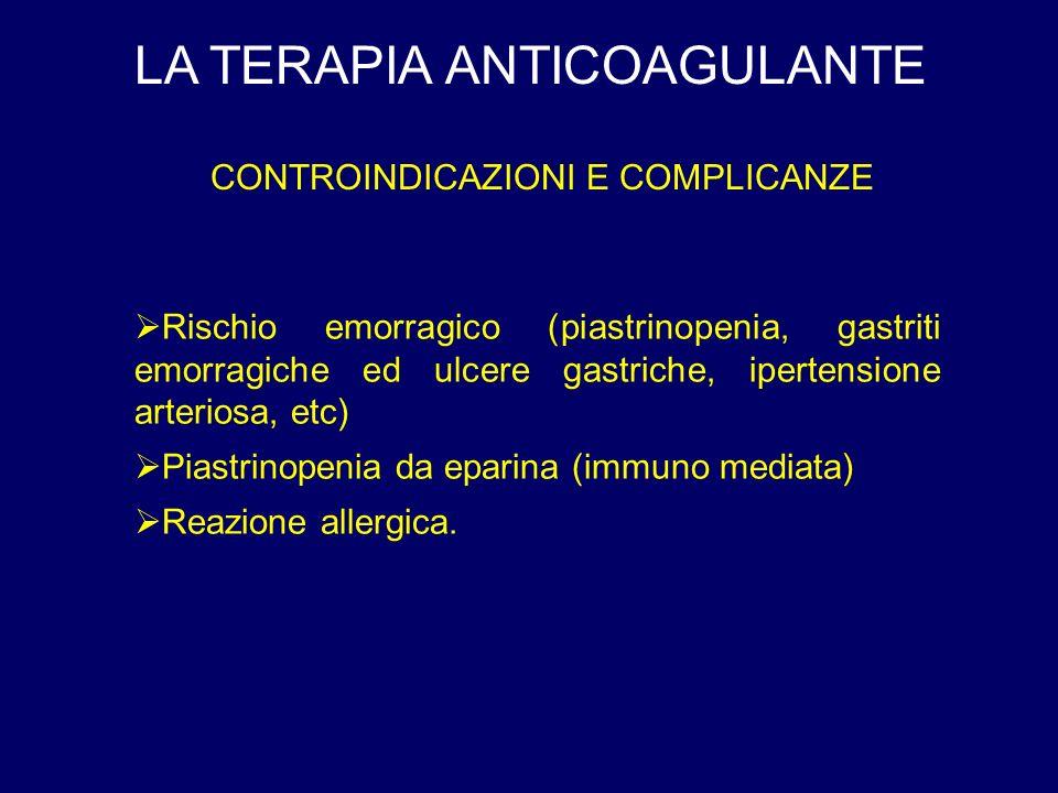 CONTROINDICAZIONI E COMPLICANZE