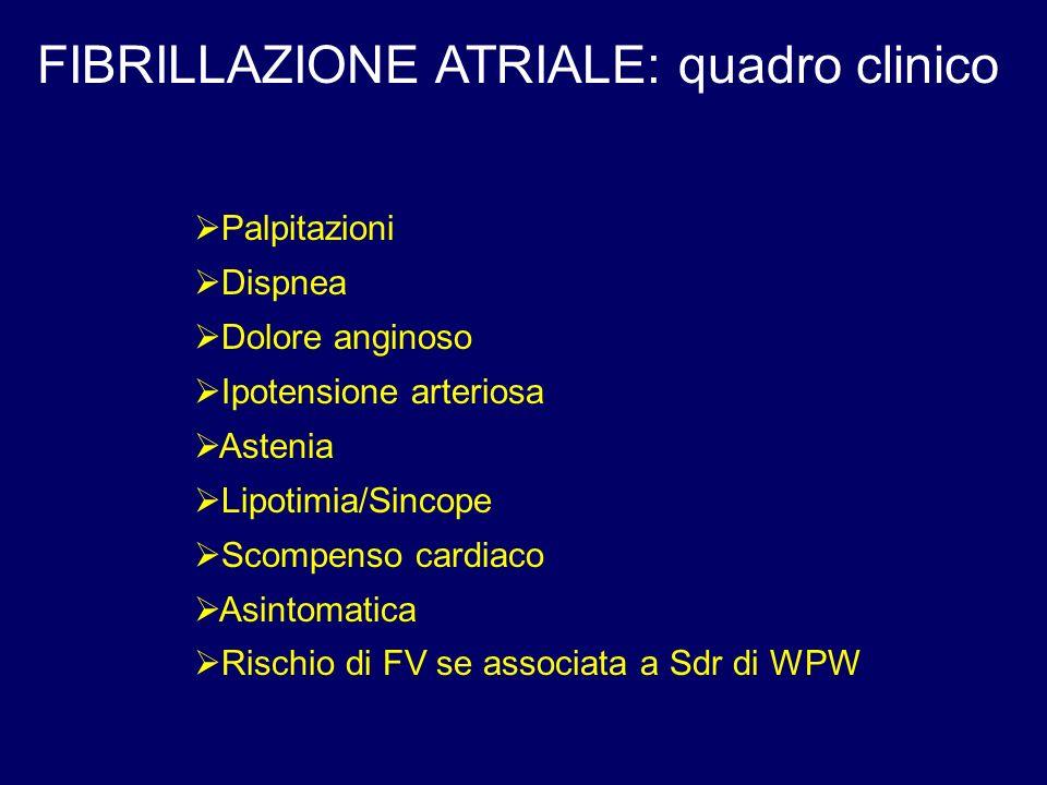 FIBRILLAZIONE ATRIALE: quadro clinico