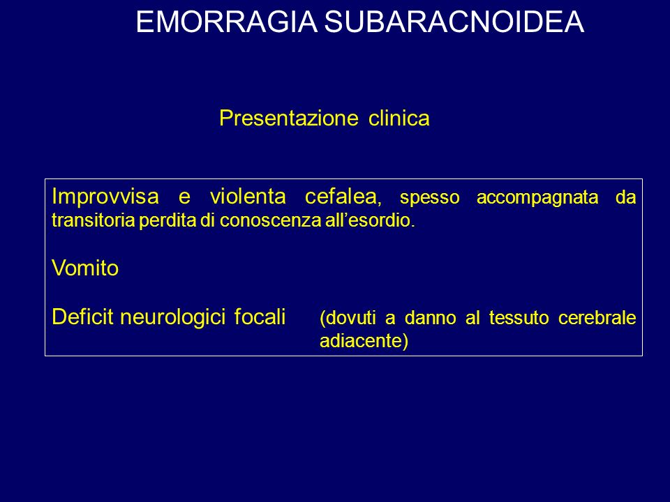 EMORRAGIA SUBARACNOIDEA