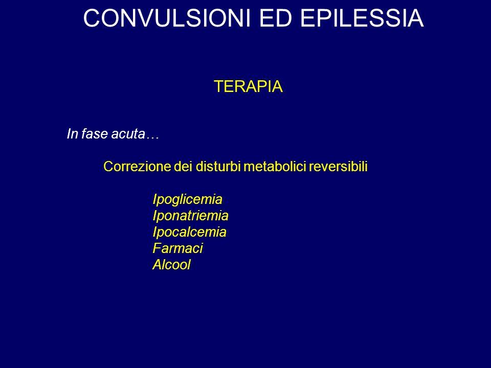 CONVULSIONI ED EPILESSIA