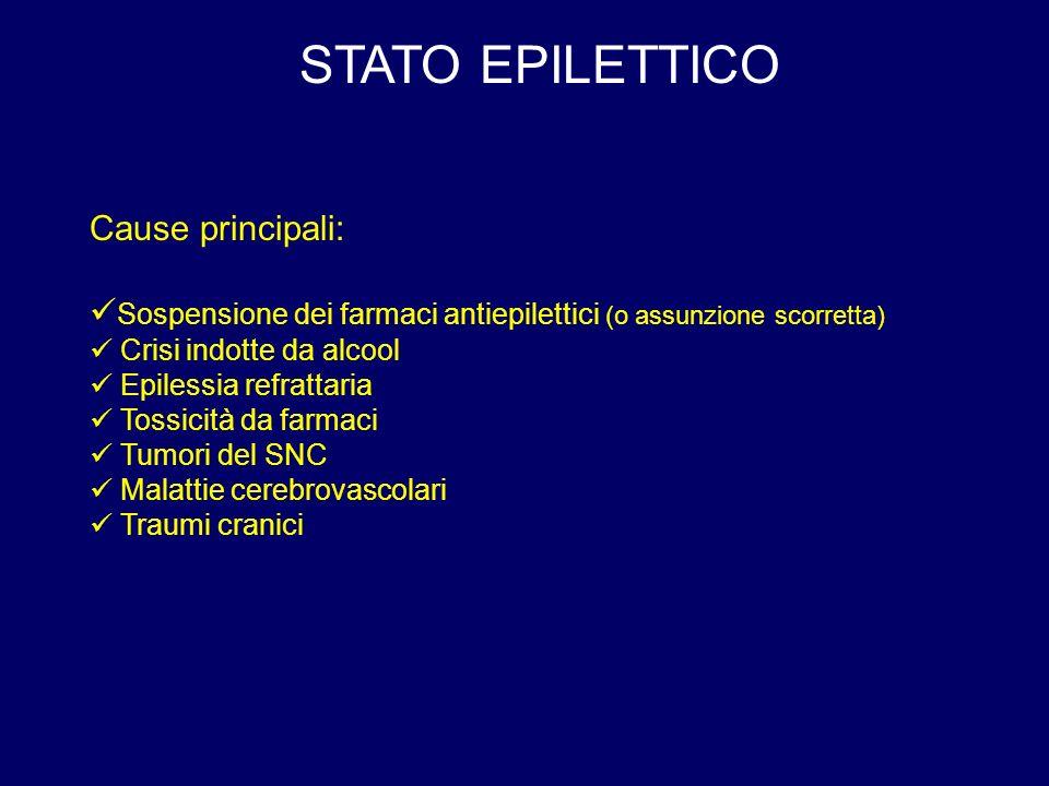 STATO EPILETTICO Cause principali: