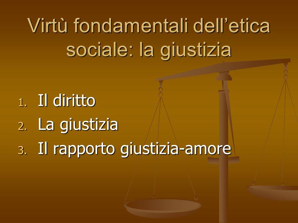 Virtù fondamentali dell'etica sociale: la giustizia