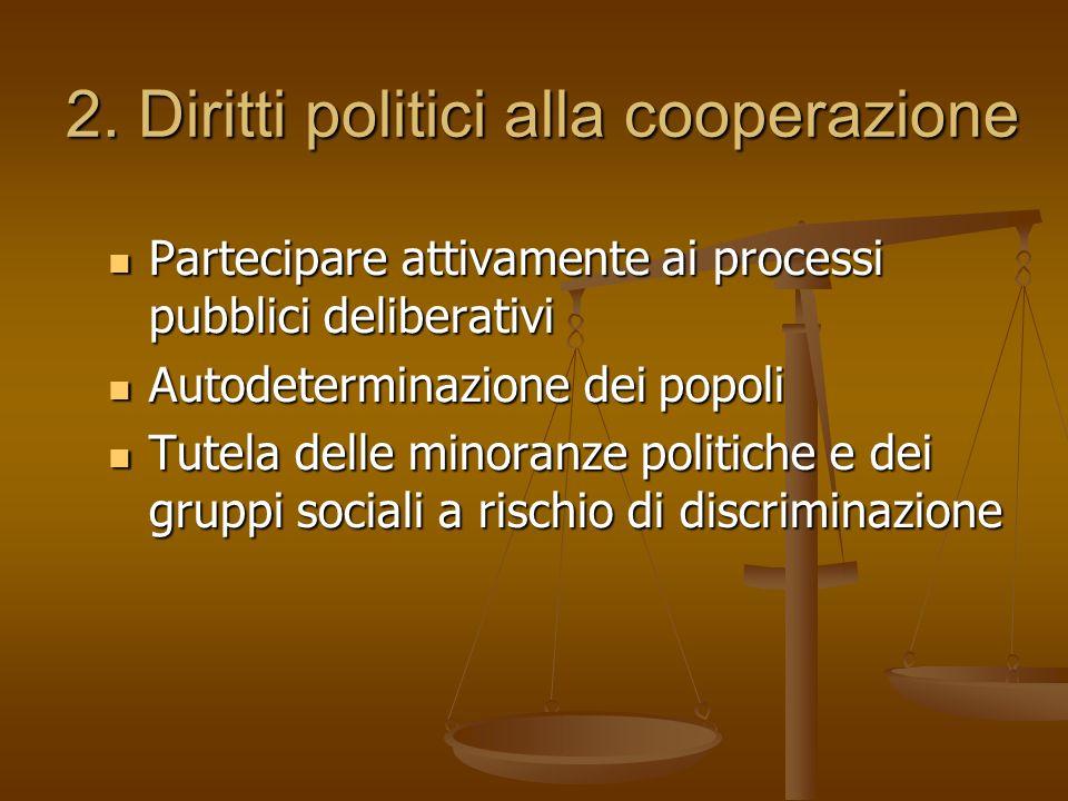2. Diritti politici alla cooperazione