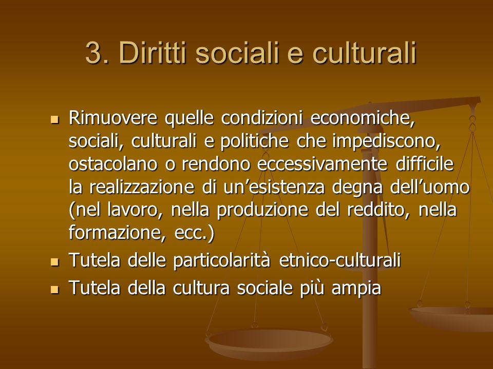 3. Diritti sociali e culturali