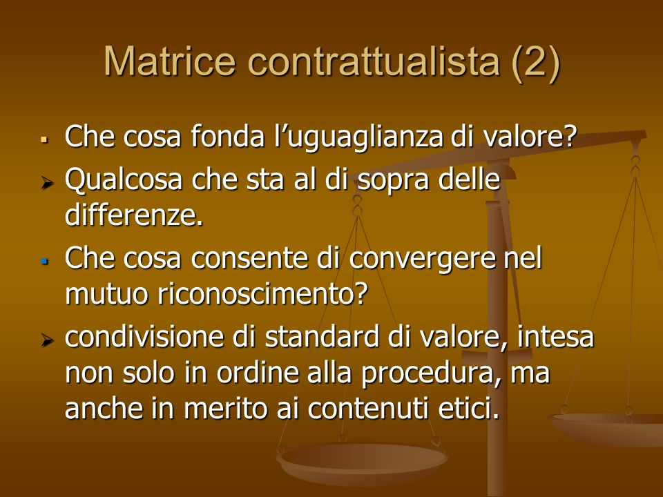 Matrice contrattualista (2)