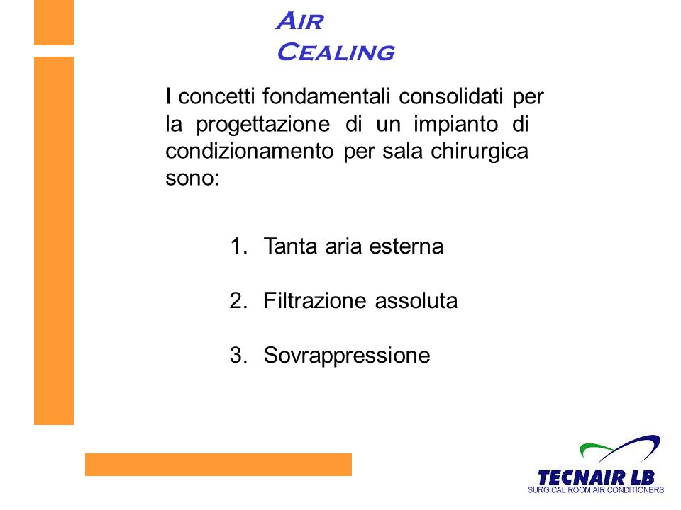 Air Cealing I concetti fondamentali consolidati per