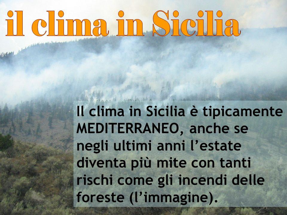 il clima in Sicilia