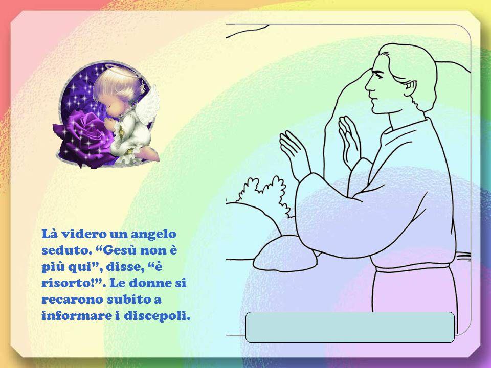 Là videro un angelo seduto. Gesù non è più qui , disse, è risorto.