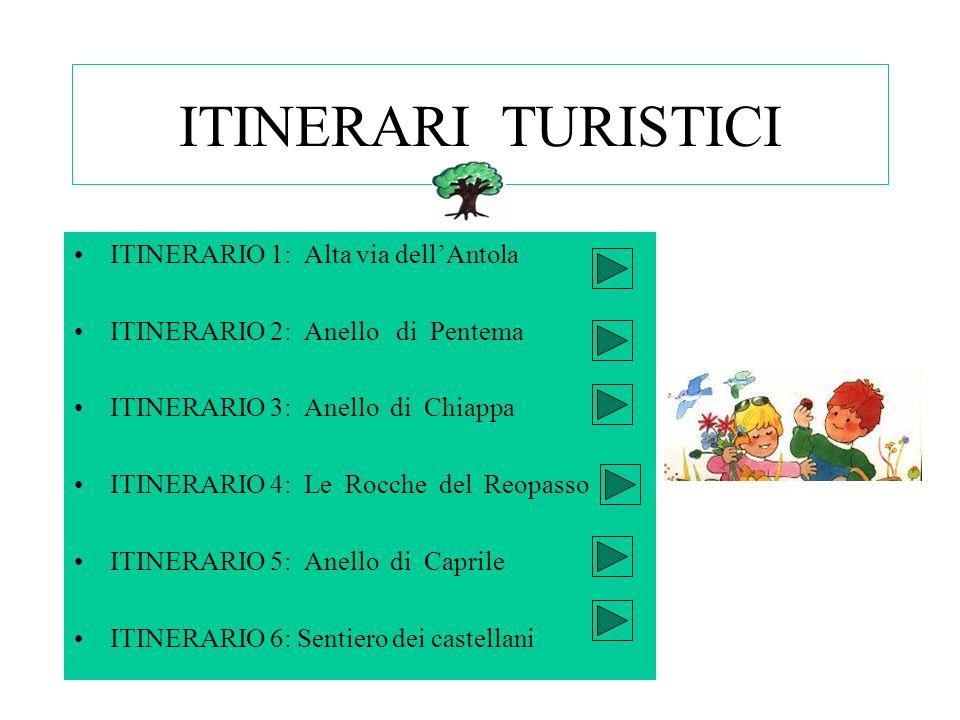 ITINERARI TURISTICI ITINERARIO 1: Alta via dell'Antola