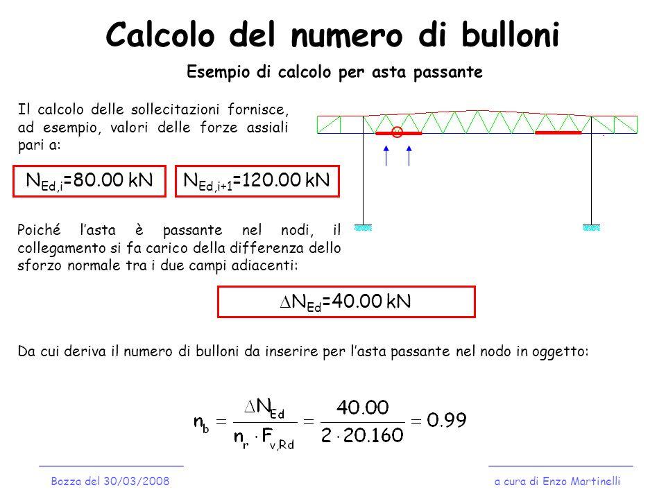 Calcolo del numero di bulloni