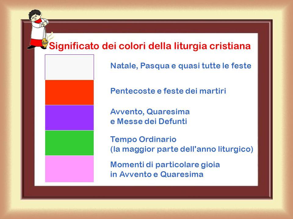 Significato dei colori della liturgia cristiana