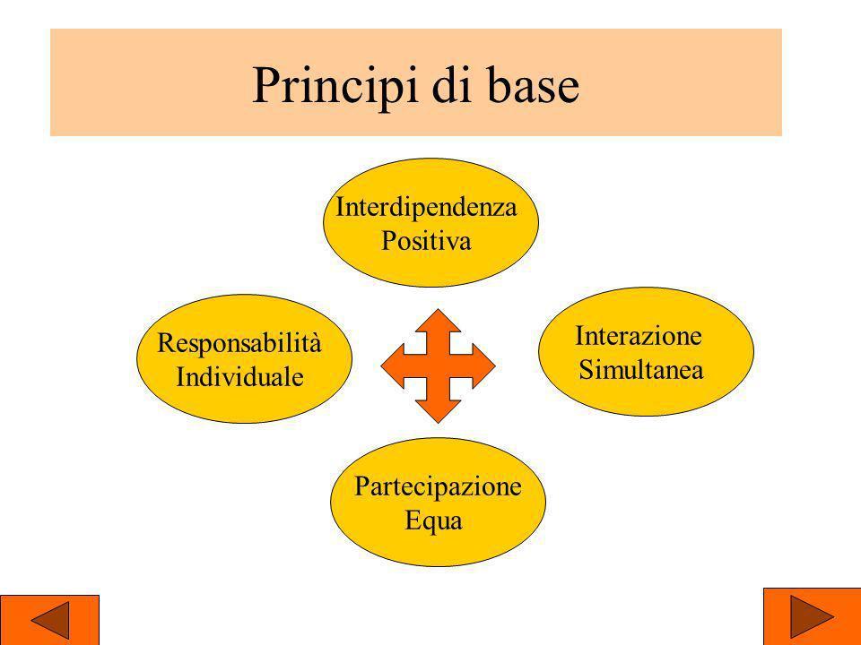 Principi di base Interdipendenza Positiva Interazione Responsabilità