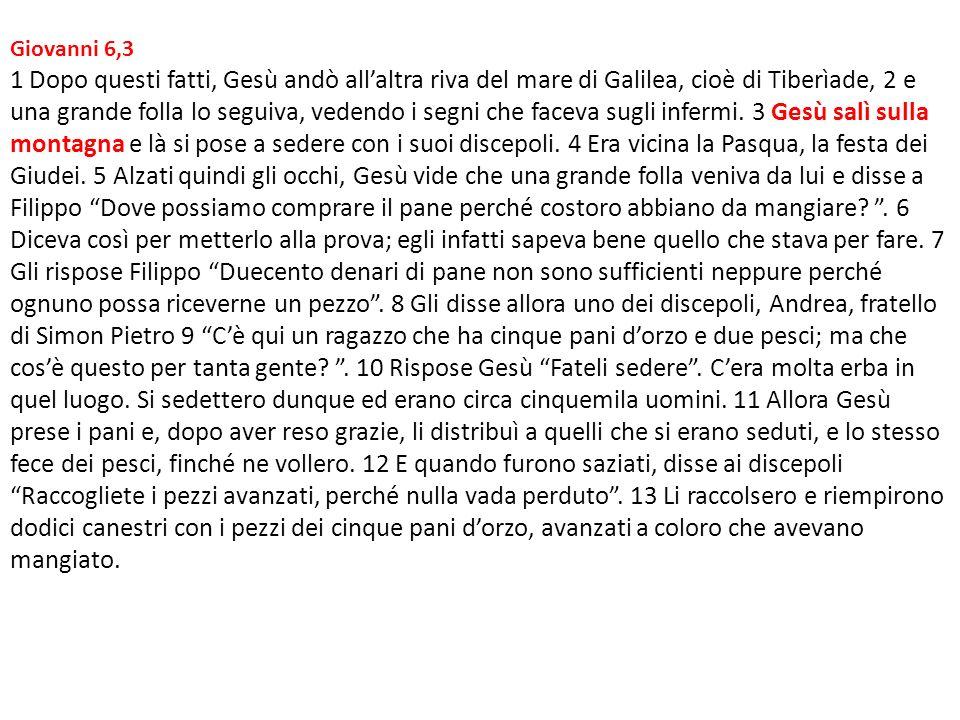 Giovanni 6,3