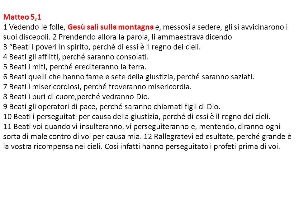 Matteo 5,1